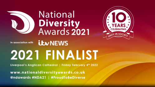 Celebrity of the Year, Finalist, Mark Lane in National Diversity Awards 2021